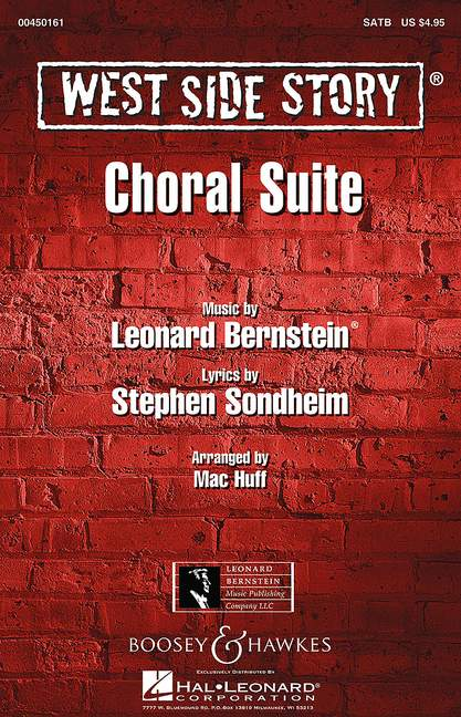 SATB and pian West Side Story Choral Suite Bernstein choral score mixed choir